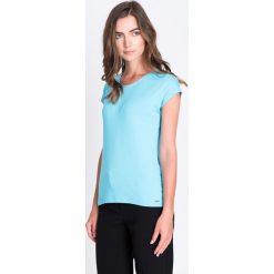 Bluzki damskie: Turkusowa wiązana bluzka QUIOSQUE