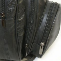 Plecaki damskie: Czarny skórzany Plecak damski Abruzzo