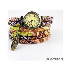 Zegarki damskie: Zegarek, bransoletka - Brązowy boho - owijany