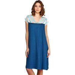 Koszule nocne i halki: Koszula nocna w kolorze niebieskim
