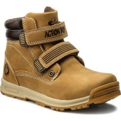 Buty zimowe chłopięce: Trapery ACTION BOY – CP40-FK5-816JZ D Camel