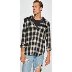 Diesel - Koszula. Szare koszule męskie na spinki Diesel, l, w kratkę, z bawełny, z długim rękawem. W wyprzedaży za 599,90 zł.