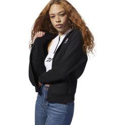 Bluza Reebok FZ Hoody (DH1376). Czarne bluzy rozpinane damskie Reebok, z bawełny. Za 269,99 zł.