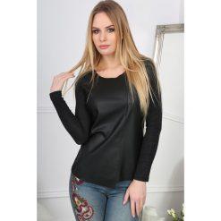 Bluzki damskie: Czarna Bluzka Asymetryczna  BB20666