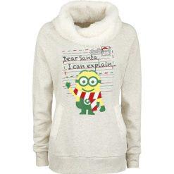 Bluzy polarowe: Minions Dear Santa Bluza damska odcienie beżowego