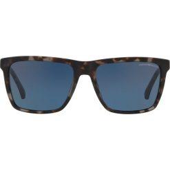 Emporio Armani - Okulary. Brązowe okulary przeciwsłoneczne męskie wayfarery Emporio Armani, z materiału. Za 499,90 zł.