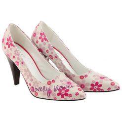 Buty ślubne damskie: Czółenka w kolorze kremowo-różowym