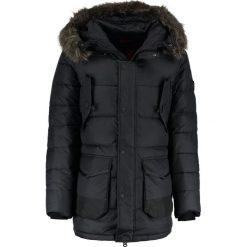 Płaszcze na zamek męskie: Superdry LONGLINE CHINOOK Płaszcz puchowy black