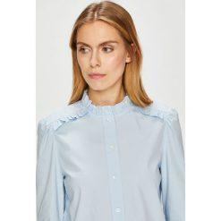 Calvin Klein - Koszula. Szare koszule damskie marki Calvin Klein, z bawełny, casualowe, ze stójką, z długim rękawem. Za 399,90 zł.