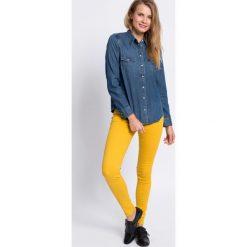 Tommy Hilfiger - Jeansy Como Rw Clr. Szare jeansy damskie rurki marki TOMMY HILFIGER, m, z nadrukiem, z bawełny, casualowe, z okrągłym kołnierzem. W wyprzedaży za 239,90 zł.