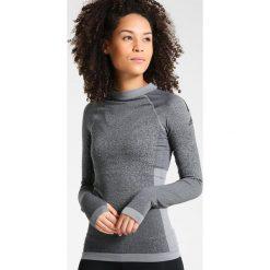 Adidas Performance Bluzka z długim rękawem black/core heather. Szare topy sportowe damskie adidas Performance, xl, z elastanu, sportowe, z długim rękawem. W wyprzedaży za 164,45 zł.