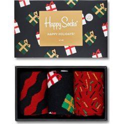 Happy Socks - Skarpety Singing Holiday (3-pack). Brązowe skarpetki męskie Happy Socks, z bawełny. W wyprzedaży za 89,90 zł.