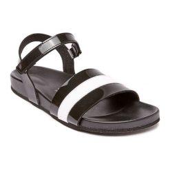 Sandały damskie: Sandały w kolorze czarno-białym