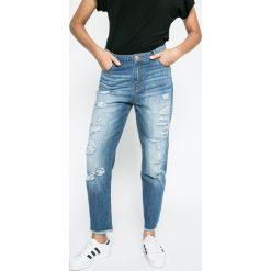 Answear - Jeansy Blossom Mood. Niebieskie boyfriendy damskie marki ANSWEAR, z obniżonym stanem. W wyprzedaży za 79,90 zł.
