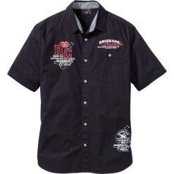 Koszula z krótkim rękawem bonprix czarny. Brązowe koszule męskie marki QUECHUA, m, z elastanu, z krótkim rękawem. Za 74,99 zł.