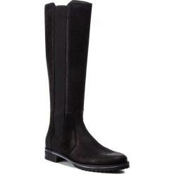 Oficerki GINO ROSSI - Nevia DKH133-T11-4B00-9900-F 99. Czarne buty zimowe damskie marki Gino Rossi, z materiału, na obcasie. W wyprzedaży za 579,00 zł.