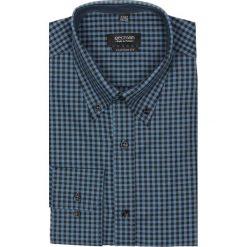 Koszula croft 2174 długi rękaw custom fit granatowy. Niebieskie koszule męskie jeansowe marki Recman, m, z aplikacjami, button down, z długim rękawem. Za 89,99 zł.