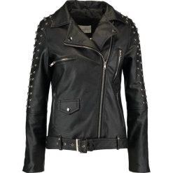 Sparkz LIXANNE Kurtka ze skóry ekologicznej black. Czarne kurtki damskie Sparkz, xs, z materiału. W wyprzedaży za 407,20 zł.