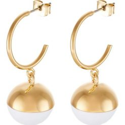 Kolczyki damskie: Whistles SPHERE HOOP EARRING Kolczyki goldcoloured