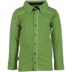 """Koszula """"Arrows"""" w kolorze zielono-czarno-żółtym. Zielone koszule chłopięce marki 4FunkyFlavours Kids, z klasycznym kołnierzykiem. W wyprzedaży za 102,95 zł."""