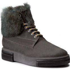 Botki POLLINI - SA21154G14TK102A Nab.Lapis/Lap.Pavon. Szare buty zimowe damskie Pollini, ze skóry. W wyprzedaży za 839,00 zł.