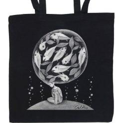 Ryby - torba (2 kolory). Czarne shopper bag damskie marki KIPSTA, m, z elastanu, z długim rękawem, na fitness i siłownię. Za 69,00 zł.