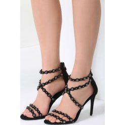 Czarno-Srebrne Sandały Always Be Beautiful. Czarne sandały damskie vices, na wysokim obcasie. Za 69,99 zł.