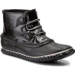 Botki SOREL - Out N About Rain NL2511 Black 010. Czarne buty zimowe damskie Sorel, z gumy. W wyprzedaży za 309,00 zł.
