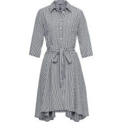 Sukienki: Sukienka koszulowa bonprix czarno-biały w kratę