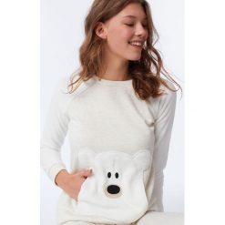 Etam - Bluza piżamowa 650162683. Szare piżamy damskie Etam, m, z dzianiny. Za 119,90 zł.