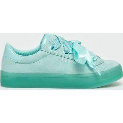 Skechers - Buty. Szare buty sportowe damskie Skechers, z materiału. W wyprzedaży za 259,90 zł.