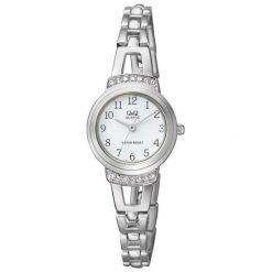 Zegarek Q&Q Damski  F573-204 Cyrkonie Biżuteryjny. Szare zegarki damskie Q&Q. Za 127,50 zł.