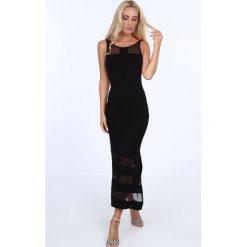 Sukienka z szyfonem czarna 5044. Czerwone sukienki marki Fasardi, l. Za 69,00 zł.