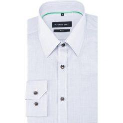 KOSZULA KDPS000330 SIMONE. Niebieskie koszule męskie na spinki marki bonprix, m, z nadrukiem, z klasycznym kołnierzykiem, z długim rękawem. Za 259,00 zł.