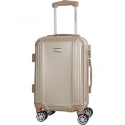 Walizka w kolorze beżowym - 56 l. Brązowe walizki marki Platinium, z materiału. W wyprzedaży za 219,95 zł.