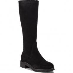 Kozaki UNISA - Darek F18 St Black. Czarne buty zimowe damskie Unisa, z materiału, przed kolano, na wysokim obcasie, na obcasie. Za 549,00 zł.