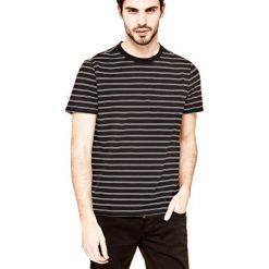 T-shirty męskie: T-Shirt Z Nadrukiem W Paski