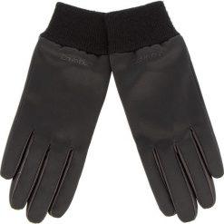 Rękawiczki Damskie CALVIN KLEIN - Satin & Leather Glov K60K604766 001. Czarne rękawiczki damskie Calvin Klein, z elastanu. Za 279,00 zł.