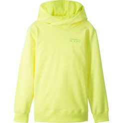 Bluza z kapturem bonprix żółty neonowy z nadrukiem. Żółte bluzy dziewczęce rozpinane bonprix, z nadrukiem, z kapturem. Za 37,99 zł.