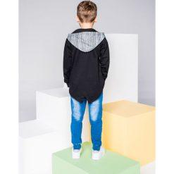 Bluzy chłopięce rozpinane: BLUZA DZIECIĘCA ROZPINANA Z KAPTUREM KB016 - CZARNA