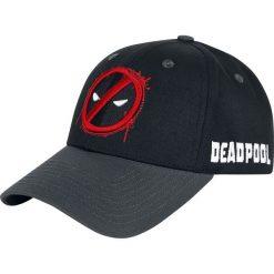 Deadpool Logo Czapka baseballowa czarny. Czarne czapki z daszkiem damskie Deadpool, z aplikacjami, z tworzywa sztucznego. Za 79,90 zł.