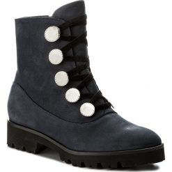 Botki EVA MINGE - Nita 2K 17BD1372200EF 407. Niebieskie buty zimowe damskie marki Eva Minge, z materiału. W wyprzedaży za 319,00 zł.