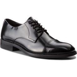 Półbuty CALVIN KLEIN BLACK LABEL - Carnell F1360 Black. Czarne półbuty skórzane męskie marki Calvin Klein Black Label. Za 719,00 zł.