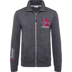 """Golfy męskie: Sweter rozpinany """"Visby"""" w kolorze granatowym"""