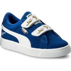 Półbuty PUMA - Minions Suede V Ps 365528 02 Olympian Blue/Puma White. Niebieskie półbuty damskie skórzane Puma. W wyprzedaży za 179,00 zł.