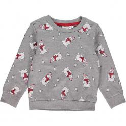 """Bluza """"Rein"""" w kolorze szarym. Szare bluzy dziewczęce rozpinane marki Name it Kids, z bawełny. W wyprzedaży za 35,95 zł."""