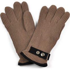 Rękawiczki męskie: Art of Polo Rękawiczki męskie z kapslem brązowe (rk1301)