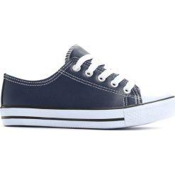 Granatowe Trampki Deep Breath. Niebieskie buty sportowe chłopięce marki Born2be, na zamek. Za 24,99 zł.