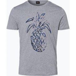 T-shirty męskie z nadrukiem: BOSS Casual – T-shirt męski – Tauno 1, szary