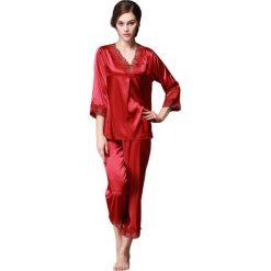 Piżamy damskie: 2-częściowa piżama w kolorze bordowym